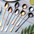 Long Handle Stainless Gold Plated Cocktail Stirring Spoon