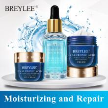 Breylee Hyaluronic Acid Set Skin Care Moisturizing Facial Serum Face Cream Eye Cream Improves Dryness Rough Whitening Repairing