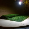 White Finish 30W Led Garden Post լամպ