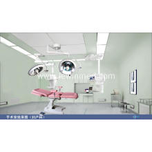 Red color electric gynaecology obstetrics bed