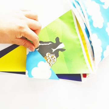 Multicolor Birthday Pvc  Bunting Pennant Banner