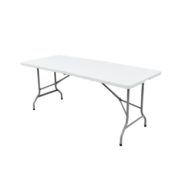 White Dining 180cm Rectangle Plastic Folding Table