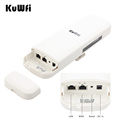 Kuwfi 900Mbps 5.8G Wireless CPE Router Outdoor Wireless Bridge Long Range 3.5KM WIFI Repeater WIFI Extender System for IP Camera