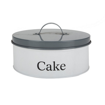 Tin Cookie Cake Can Canister Containers
