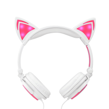 Headphones factory LED glowing Cat Ear Headphones