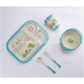 Durable Bamboo Plates Dinnerware Set for Baby