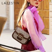 LA FESTIN The same star 2020 new fashion shoulder messenger retro old flower armpit bag light luxury niche female bag saddle bag