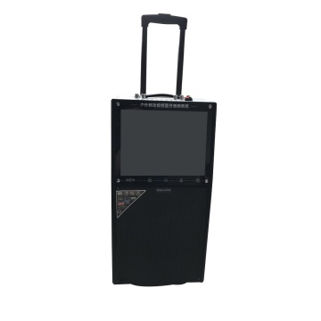 Classic Black Wooden Portable Trolley Speaker