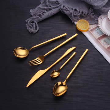 Stainless steel Reusable bulk gold flatware set