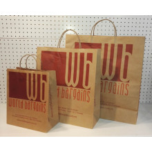 Paper Twisted Handle Paper Bag-Wordbargin