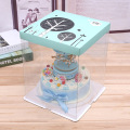 Plastic cake box transparent box