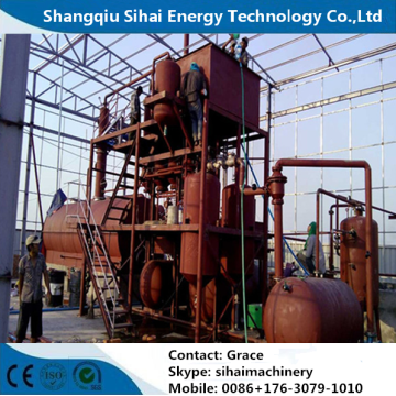 Used Lube Oil Refining By Distillation Plant