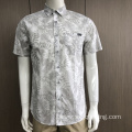 Men's 100% cotton print short sleeve shirts