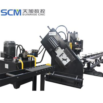 Channel Bars Beam Punching Marking Shearing Line