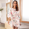 Women Elegant Ladies Fashion Casual Printed Dress