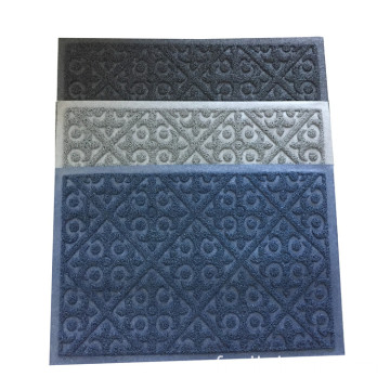 Tapis de porte à enroulement de conception en relief imperméable en PVC