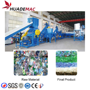 PET bottle washing and recycling line machine