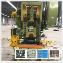Heavy hexagonal mesh double twist barbed wire machine
