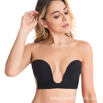 Gather push up breathable invisible silicone bra
