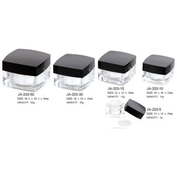 Square Cosmetic Acrylic Jar