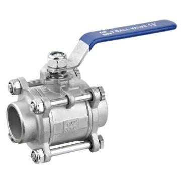 3PC Butt Welded Stainless Steel Ball Valve