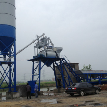 Construction stationary cement concrete batching plants