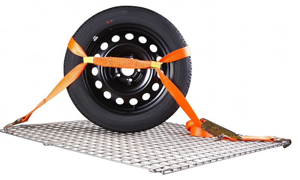 2'' 5T Tire Strap With 3 Rubber Blocks