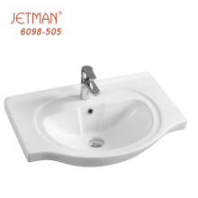 Top Class Small Size Patterned Ceramic Bathroom Sink