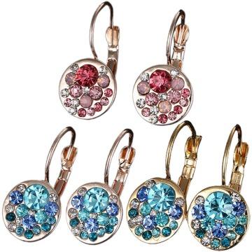 Vintage Fruit Fresh Garnet Earrings Classic Resin Stone Pomegranate Dangle Earring Jewelry for Women Gifts