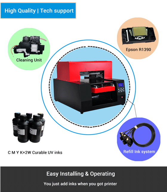 A2 Flatbed Uv Printer Price