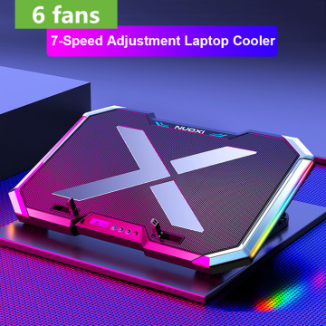 Laptop Cooler Laptop Cooling Pad Notebook Gaming Cooler Support With Six Fan and 2 USB Ports for 11-17inch Laptop Stand Notebook