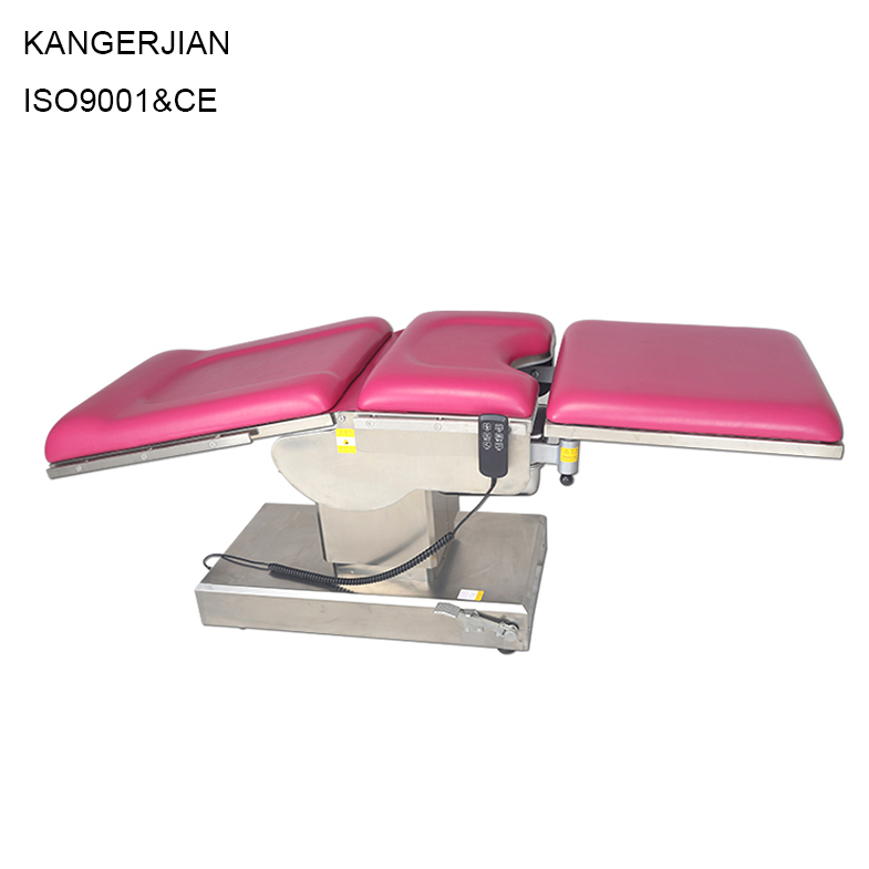 Hospital medical gynecologial examining operating table