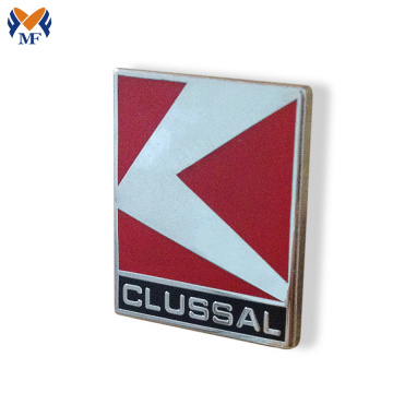 Square shape custom blank lapel pin badge