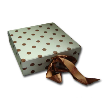 Ribbon tied Fold Rigid Box With Clear Window