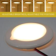 4LED Touch Dimmable Ceiling light Cabin Light for CarRoof Ultra-Thin Ceiling LED Panel Lamp Outer Ring Lampshade For RV ship Int