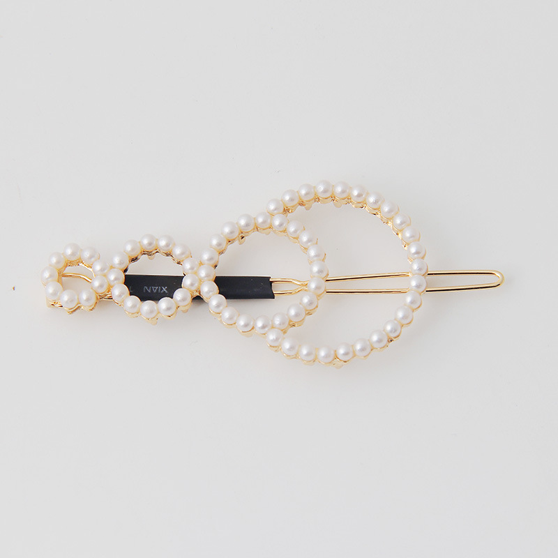 Ladies metallic pearl hair pin headpiece (2)