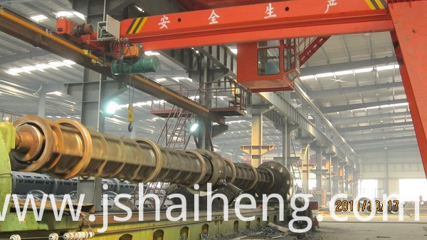 15meter lathe machine for concrete pile mould