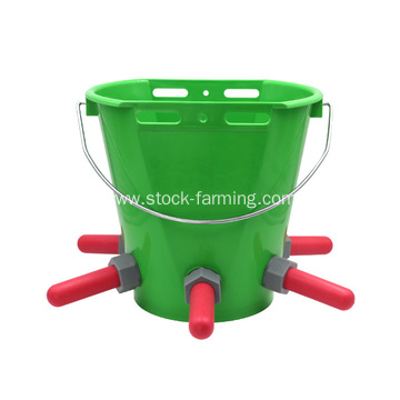 Calf Plastic 8L Feeding Bucket with Rub​ber Nipple