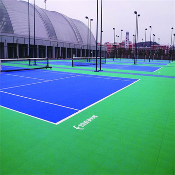ITF approved tennis court floor