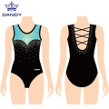 Multicolored strap back girls leotards