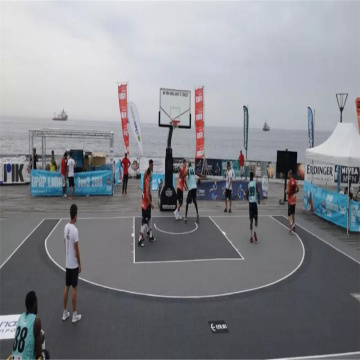 FIBA approved court tiles 3x3 basketball floor