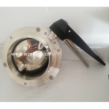 Stainless Steel Welded Sanitary Butterfly Valve