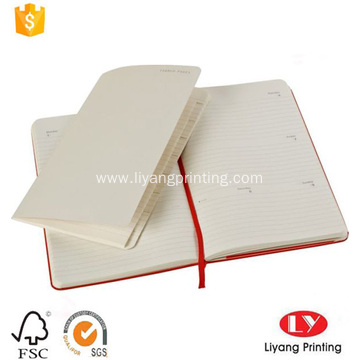 Fancy diary hardcover paper notebook with pocket