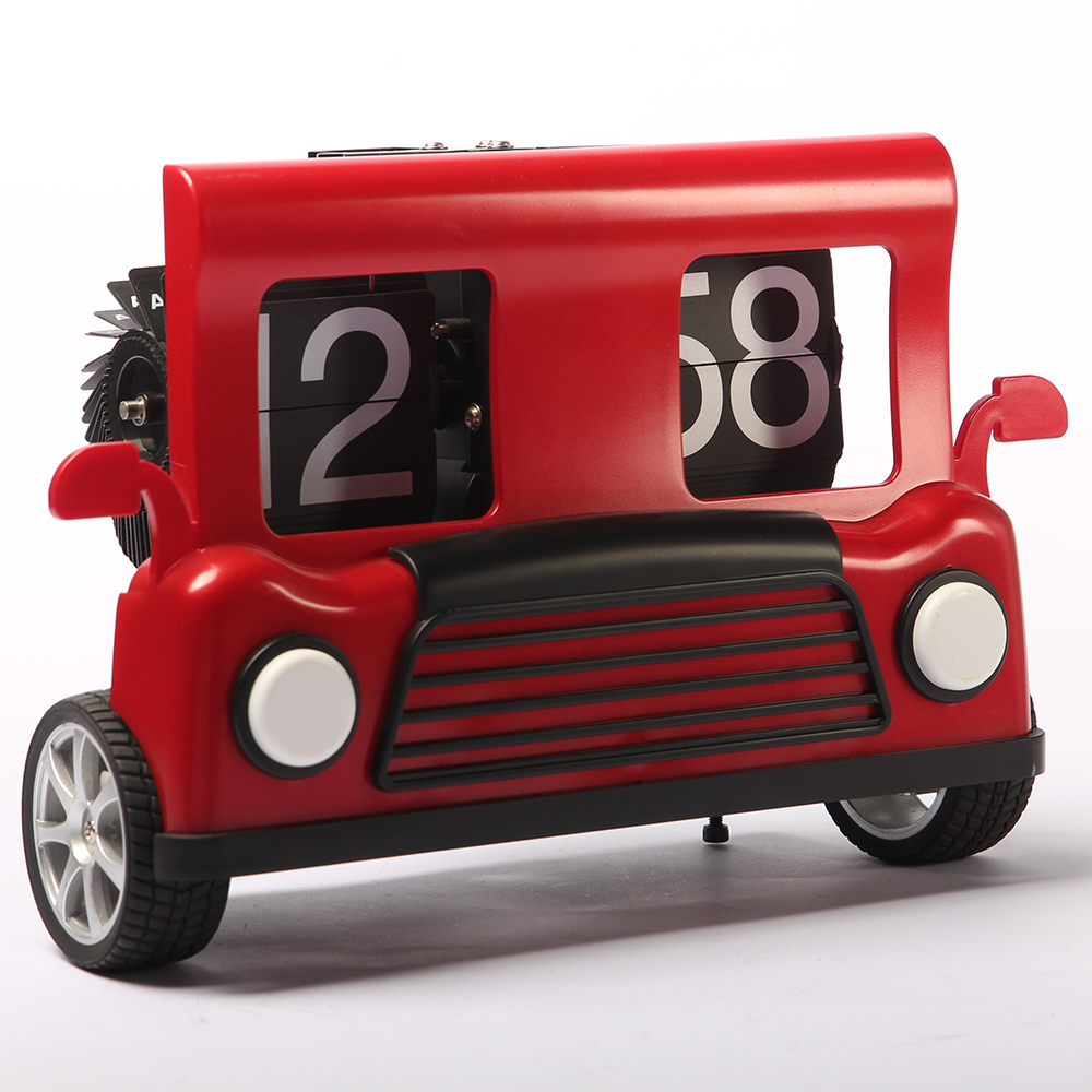 Red Truck Flip Clock for Decor