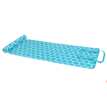Memory Foam Beach Mat Blue Circles