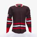 Wholesale low price customized mesh wear custom half and half cheap ice hockey jerseys