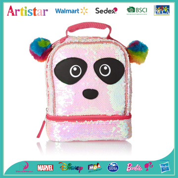 Panda pink sequins backpack