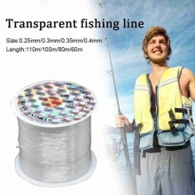 1 Pcs Strong Nylon Fishing Line high quality White 0.25/0.3/0.35/0.4mm Fishing Rope 110m/100m/80m/60m