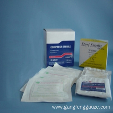 Sterile Gauze Swabs 100% Cotton. BP Quality