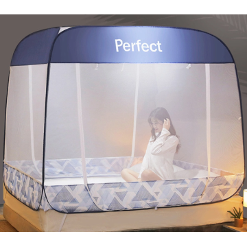 Baby pop-up tent on the bed